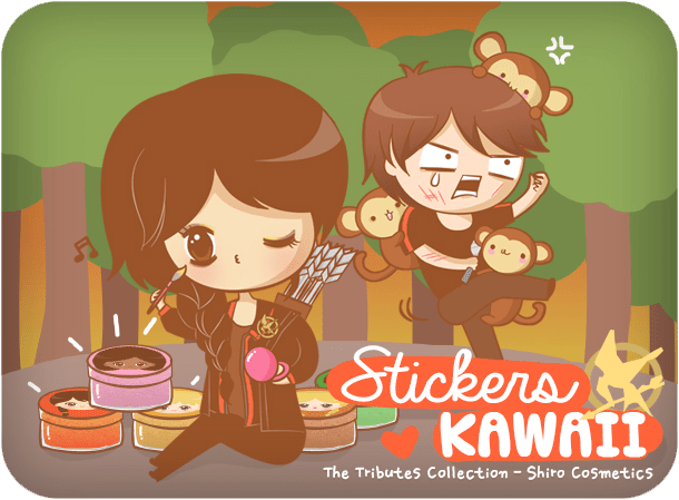 Stickers kawaii pour The Tributes Collection (Shiro Cosmetics)