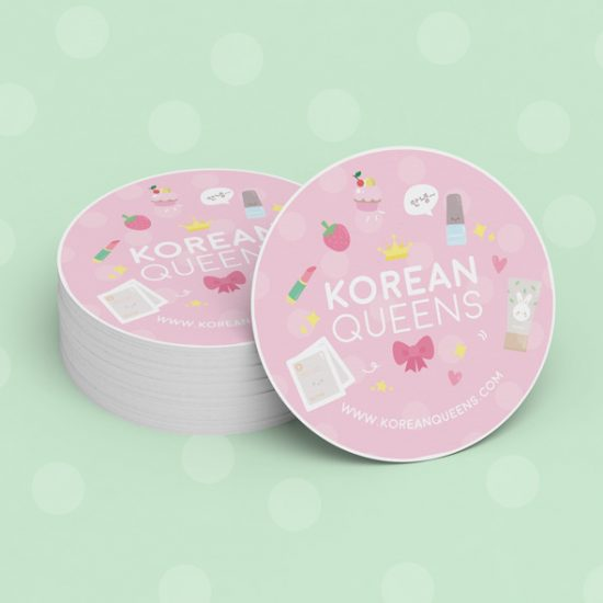 Korean Queens détail d'un sticker